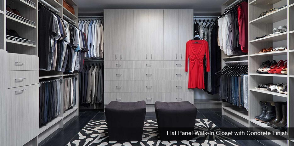 ... Custom Concrete Flat Panel Walk-in Closet ...