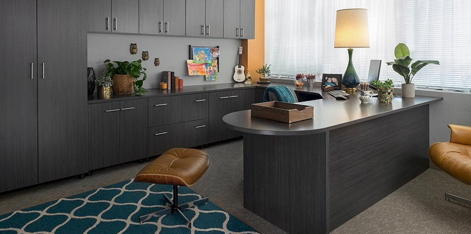 Licorice Custom Home Office Cabinets